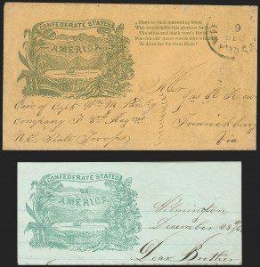 Sale Number 1186, Lot Number 566, Patriotics-Handstamped Paid and Due MarkingsWilmington N.C. Paid 5, 30 Dec (1861), Wilmington N.C. Paid 5, 30 Dec (1861)