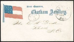 Sale Number 1186, Lot Number 569, Patriotics-Handstamped Paid and Due MarkingsSavannah Ga. Paid, Savannah Ga. Paid
