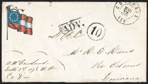 Sale Number 1186, Lot Number 571, Patriotics-Handstamped Paid and Due MarkingsColumbia Ten. Mar. 12, 1862, Columbia Ten. Mar. 12, 1862