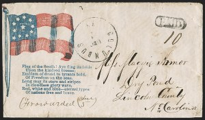 Sale Number 1186, Lot Number 573, Patriotics-Handstamped Paid and Due MarkingsColumbus Ky. Dec. 7 (1861), Columbus Ky. Dec. 7 (1861)