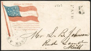 Sale Number 1186, Lot Number 576, Patriotics-Handstamped Paid and Due MarkingsAberdeen Miss., Jun. 29, Aberdeen Miss., Jun. 29