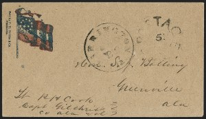 Sale Number 1186, Lot Number 580, Patriotics-Handstamped Paid and Due MarkingsWarrington Fla ? 22, Warrington Fla ? 22