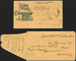Sale Number 1186, Lot Number 582, Patriotics-Handstamped Paid and Due MarkingsUnion City Tennessee, Union City Tennessee