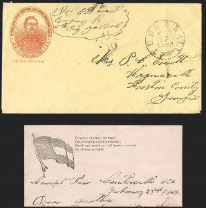 Sale Number 1186, Lot Number 591, Patriotics-Handstamped Paid and Due MarkingsTudor Hall Va. Feb. 27, 1862, Tudor Hall Va. Feb. 27, 1862