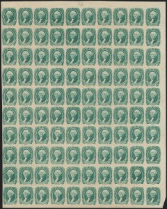 Sale Number 1186, Lot Number 830, 20c Green Engraved20c Green (13), 20c Green (13)