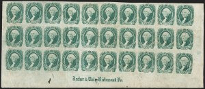 Sale Number 1186, Lot Number 831, 20c Green Engraved20c Green (13), 20c Green (13)