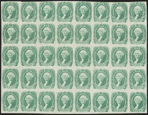 Sale Number 1186, Lot Number 832, 20c Green Engraved20c Green (13), 20c Green (13)