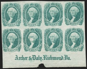 Sale Number 1186, Lot Number 834, 20c Green Engraved20c Green (13), 20c Green (13)