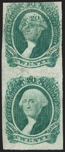 "Sale Number 1186, Lot Number 835, 20c Green Engraved20c Green, ""20"" on Forehead (13 var), 20c Green, ""20"" on Forehead (13 var)"