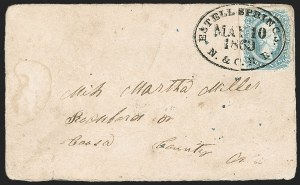 Sale Number 1186, Lot Number 846, Railroad Markings10c Milky Blue, Die A (11a), 10c Milky Blue, Die A (11a)