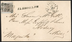 Sale Number 1186, Lot Number 847, Steamboat Mail-Confederate Postal SystemNew Orleans La., 5c Red Brown on Bluish (62X4), New Orleans La., 5c Red Brown on Bluish (62X4)