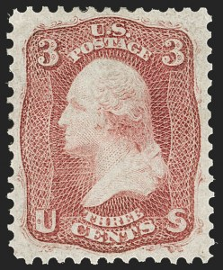 Sale Number 1187, Lot Number 116, 1861-66 Issue (Scott 56-78)3c Brown Rose, First Design (56), 3c Brown Rose, First Design (56)