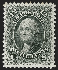 Sale Number 1187, Lot Number 133, 1861-66 Issue (Scott 56-78)12c Black (69), 12c Black (69)