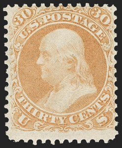 Sale Number 1187, Lot Number 137, 1861-66 Issue (Scott 56-78)30c Orange (71), 30c Orange (71)