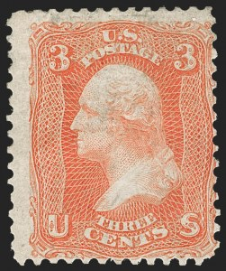 Sale Number 1187, Lot Number 142, 1861-66 Issue (Scott 56-78)3c Scarlet (74), 3c Scarlet (74)