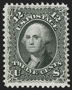 Sale Number 1187, Lot Number 163, 1867-68 Grilled Issue (Scott 79-101)12c Black, F. Grill (97), 12c Black, F. Grill (97)