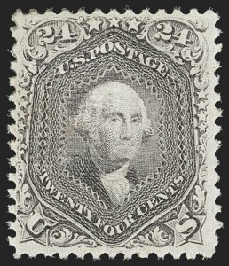 Sale Number 1187, Lot Number 164, 1867-68 Grilled Issue (Scott 79-101)24c Gray Lilac, F. Grill (99), 24c Gray Lilac, F. Grill (99)