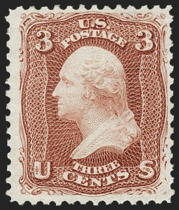 Sale Number 1187, Lot Number 175, 1867-68 Grilled Issue (Scott 79-101)3c Brown Red, Re-Issue (104), 3c Brown Red, Re-Issue (104)