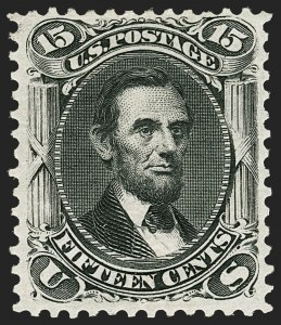 Sale Number 1187, Lot Number 180, 1867-68 Grilled Issue (Scott 79-101)15c Black, Re-Issue (108), 15c Black, Re-Issue (108)