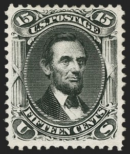 Sale Number 1187, Lot Number 182, 1867-68 Grilled Issue (Scott 79-101)15c Black, Re-Issue (108), 15c Black, Re-Issue (108)
