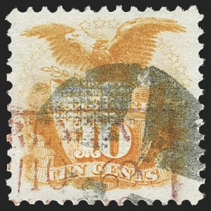 Sale Number 1187, Lot Number 192, 1869 Pictorial Issue (Scott 112-122)10c Yellow (116), 10c Yellow (116)