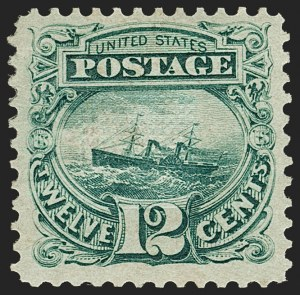 Sale Number 1187, Lot Number 194, 1869 Pictorial Issue (Scott 112-122)12c Green (117), 12c Green (117)