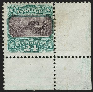 Sale Number 1187, Lot Number 199, 1869 Pictorial Issue (Scott 112-122)24c Green & Violet (120), 24c Green & Violet (120)
