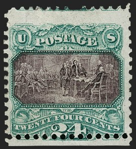Sale Number 1187, Lot Number 201, 1869 Pictorial Issue (Scott 112-122)24c Green & Violet (120), 24c Green & Violet (120)