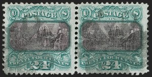 Sale Number 1187, Lot Number 202, 1869 Pictorial Issue (Scott 112-122)24c Green & Violet (120), 24c Green & Violet (120)