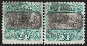 Sale Number 1187, Lot Number 203, 1869 Pictorial Issue (Scott 112-122)24c Green & Violet (120), 24c Green & Violet (120)