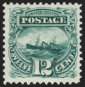 Sale Number 1187, Lot Number 217, 1875 Re-Issue of 1869 Pictorial Issue (Scott 123-133a)12c Green, Re-Issue (128), 12c Green, Re-Issue (128)