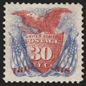 Sale Number 1187, Lot Number 224, 1875 Re-Issue of 1869 Pictorial Issue (Scott 123-133a)30c Ultramarine & Carmine, Re-Issue (131), 30c Ultramarine & Carmine, Re-Issue (131)