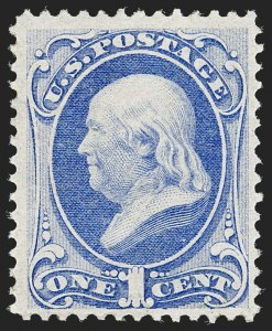 Sale Number 1187, Lot Number 227, 1870-71 National Bank Note Co. Grilled Issue (Scott 134-144)1c Ultramarine, H. Grill (134), 1c Ultramarine, H. Grill (134)