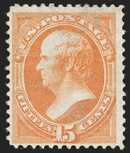 Sale Number 1187, Lot Number 231, 1870-71 National Bank Note Co. Grilled Issue (Scott 134-144)15c Orange, H. Grill (141), 15c Orange, H. Grill (141)