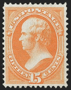 Sale Number 1187, Lot Number 232, 1870-71 National Bank Note Co. Grilled Issue (Scott 134-144)15c Orange, H. Grill (141), 15c Orange, H. Grill (141)