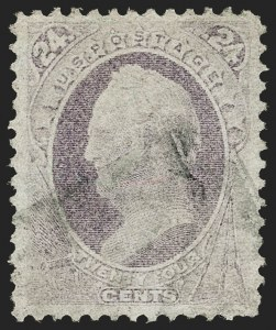 Sale Number 1187, Lot Number 233, 1870-71 National Bank Note Co. Grilled Issue (Scott 134-144)24c Purple, H. Grill (142), 24c Purple, H. Grill (142)