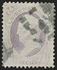 Sale Number 1187, Lot Number 234, 1870-71 National Bank Note Co. Grilled Issue (Scott 134-144)24c Purple, H. Grill (142), 24c Purple, H. Grill (142)