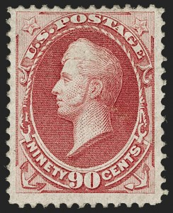 Sale Number 1187, Lot Number 237, 1870-71 National Bank Note Co. Grilled Issue (Scott 134-144)90c Carmine, H. Grill (144), 90c Carmine, H. Grill (144)