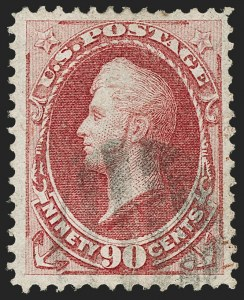 Sale Number 1187, Lot Number 238, 1870-71 National Bank Note Co. Grilled Issue (Scott 134-144)90c Carmine, H. Grill (144), 90c Carmine, H. Grill (144)