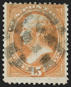 Sale Number 1187, Lot Number 243, 1870-71 National Bank Note Co. Grilled Issue (Scott 134-144)15c Orange, I. Grill (141A), 15c Orange, I. Grill (141A)