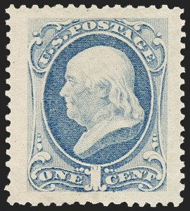 Sale Number 1187, Lot Number 253, 1873 Continental Bank Note Co. Issue (Scott 156-166)1c Ultramarine (156), 1c Ultramarine (156)