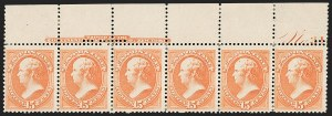 Sale Number 1187, Lot Number 292, 1879 American Bank Note Co. Issue (Scott 182-191)15c Red Orange (189), 15c Red Orange (189)