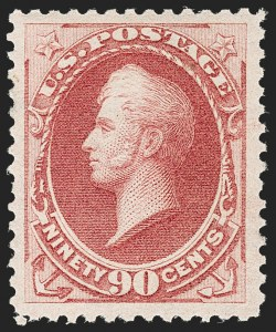 Sale Number 1187, Lot Number 296, 1879 American Bank Note Co. Issue (Scott 182-191)90c Carmine (191), 90c Carmine (191)