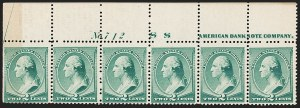 Sale Number 1187, Lot Number 326, 1887 American Bank Note Co. Issue (Scott 212-218)2c Green (213), 2c Green (213)