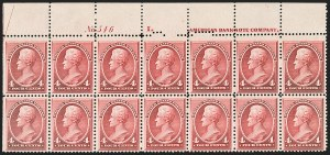 Sale Number 1187, Lot Number 330, 1887 American Bank Note Co. Issue (Scott 212-218)4c Carmine (215), 4c Carmine (215)