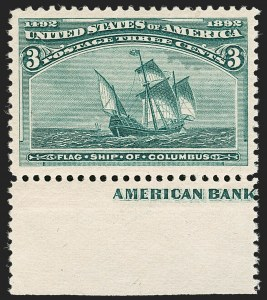 Sale Number 1187, Lot Number 357, 1893 Columbian Issue (Scott 230-245)3c Columbian (232), 3c Columbian (232)