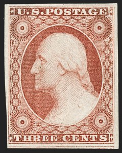 Sale Number 1187, Lot Number 36, 1851-56 Issue (Scott 5-17)3c Brownish Carmine, Ty. II (11A), 3c Brownish Carmine, Ty. II (11A)