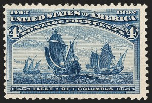 Sale Number 1187, Lot Number 362, 1893 Columbian Issue (Scott 230-245)4c Columbian, Error of Color (233a), 4c Columbian, Error of Color (233a)