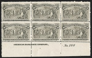 Sale Number 1187, Lot Number 368, 1893 Columbian Issue (Scott 230-245)10c Columbian (237), 10c Columbian (237)