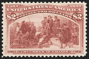 Sale Number 1187, Lot Number 375, 1893 Columbian Issue (Scott 230-245)$2.00 Columbian (242), $2.00 Columbian (242)